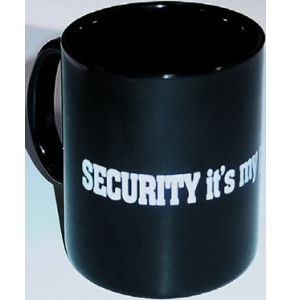 "Keramiktasse ""Security is my profession"" - Schwarz - Nr. 4086"